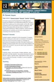 LSE Faculty Profile: Dr Joyce, Dept of Management